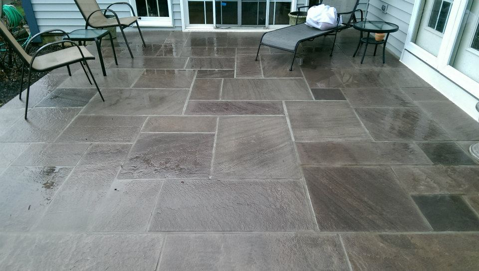 Flagstone Patio - Bill\'s Masonry Services