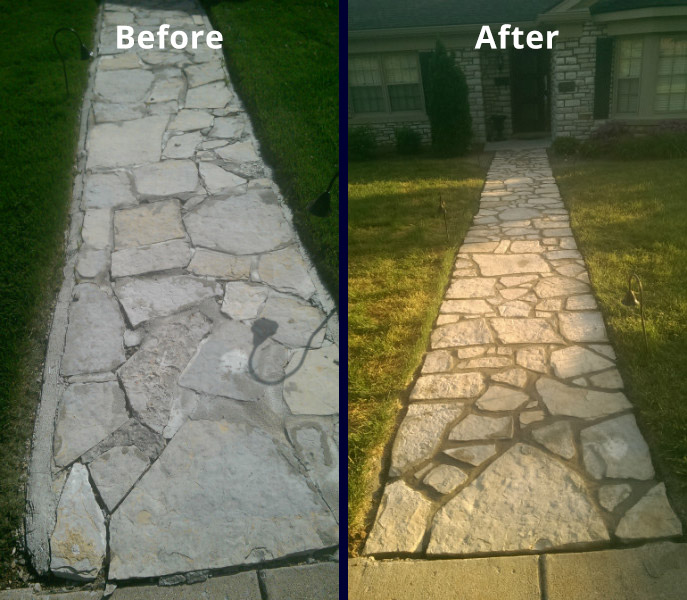 Stone Walkway Bills Masonry Services