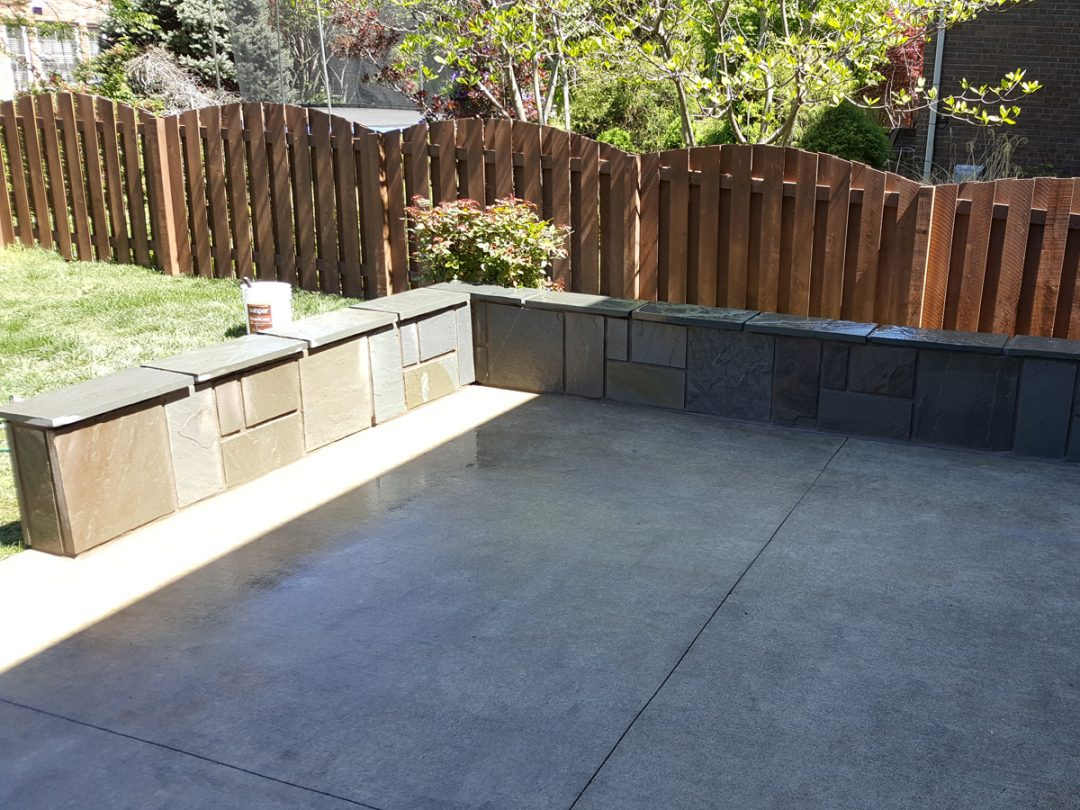 Ziada Flagstone Veneered Patio Walls & Ziada Flagstone Veneered Patio Walls - Billu0027s Masonry Services