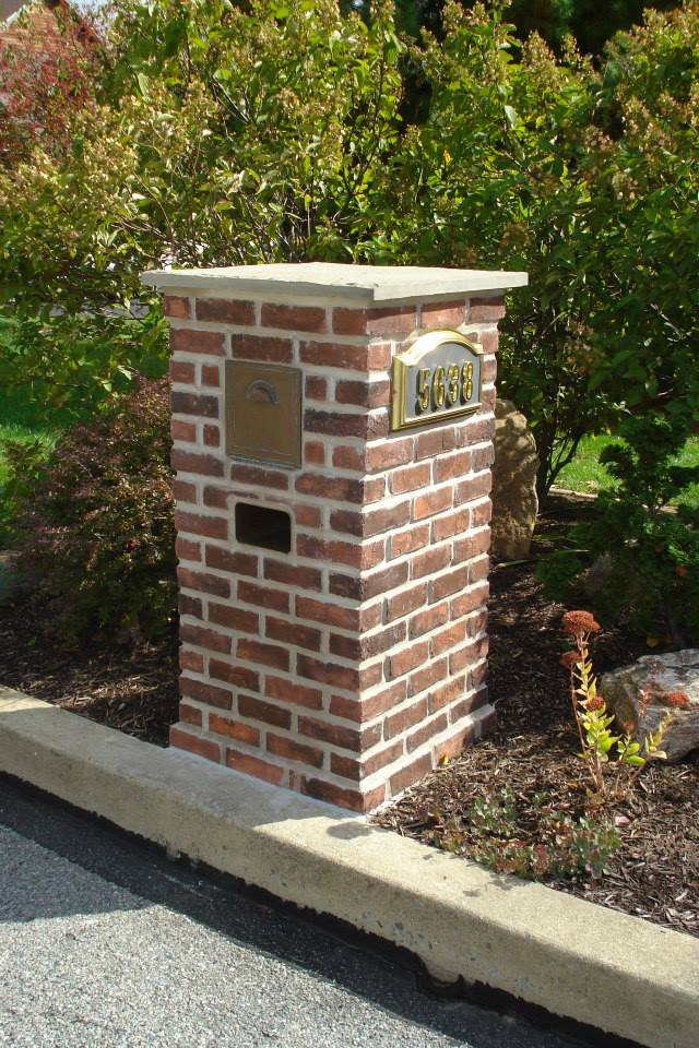 Brick Veneered Mailbox