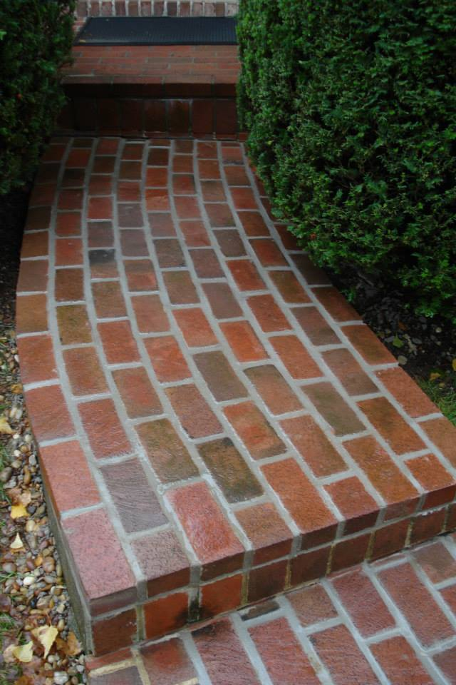 Radiused Brick Walkway
