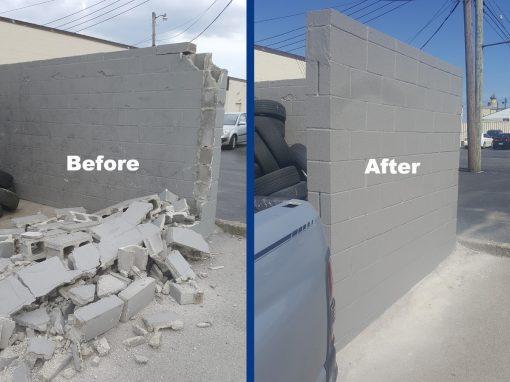Goodyear Block Wall Rebuild